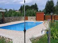 Bazén - chata ubytování Zběšice