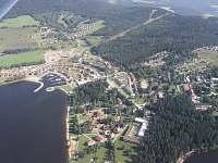 letecký snímek Lipno nad Vltavou -