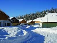 zima ve Villa park Lipno - vila k pronajmutí