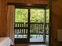 ložnice 1 - veranda - chata k pronajmutí Nahořany
