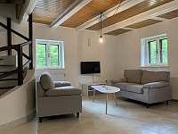 obývací místnost - chata ubytování Nahořany