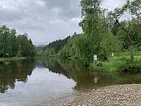 řeka Vltava, 200m, přírodní koupání - Nahořany