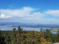 Výhled z Vítkova Hrádku - pronájem vily Frymburk
