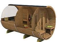 finská sauna Deluxe 4 m ze smrkového dřeva, s předsíní a panoramatickým výhledem - chalupa ubytování Nítovice