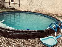 Nový bazén o průměru 4,27 m - chalupa ubytování Nítovice