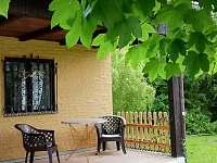 terasa - chata ubytování Blatiny