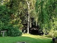 venkovní ohniště - chata k pronajmutí Blatiny
