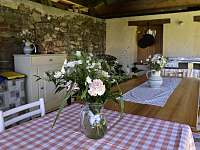 letní kuchyně - apartmán ubytování Kájov