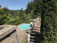 Chalupa Anna- venkovní bazén - k pronájmu Loučovice