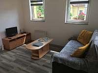 Obývací pokoj s TV - chata k pronajmutí Vitějovice