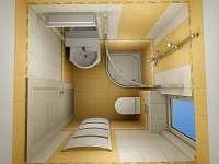 koupelna + wc v patře