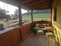 Veranda - chata k pronájmu Lipno nad Vltavou - Kobylnice