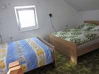 Ložnice v podkroví - chata k pronájmu Černá v Pošumaví - Radslav