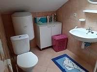 WC a sprchový kout v patře - apartmán k pronajmutí Blažejov