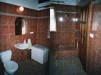 Koupelna v přízemí vedle hospůdky - pronájem chalupy Olší
