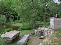 Dolní rybník u chalupy.
