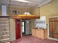 Společenská místnost apartmán U řeky Moravské Dyje.(palanda 2 lůžka)