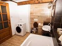 koupelna přízemí - roubenka k pronajmutí Římov - Dolní Stropnice