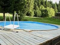 Bazén průměr 5 metrů. - pronájem chalupy Daleké Popelice