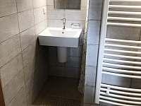 Koupelna se sprchou a toaletou v přízemí - chalupa k pronájmu Varvažov