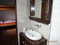 Koupelna - chalupa ubytování Jaronín