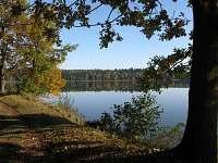 koupání, vodní sporty a rybolov, nespočetně rybníků, nejbližší 300 m