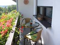 balkon - apartmán k pronájmu Lipno nad Vltavou