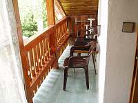 balkon - pronájem chaty Ševětín Dudenský rybník