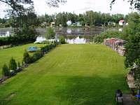 pohled z balkonu - chata ubytování Ševětín Dudenský rybník