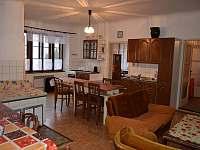 Obývací pokoj + Kuchyně - pronájem chalupy Borkovice