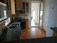 Kuchyň - chalupa ubytování Rejta