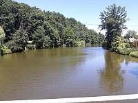 Pohled na řeku směr Planá nad Lužnicí - Roudná