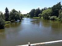 Pohled na řeku směr Soběslav - Roudná