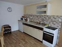 Plně vybavená kuchyň v novém pětilůžkovém apartmánu (přízemí)