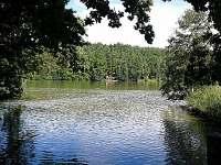 Soustava rybníků - chata ubytování Dubné
