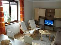 Obývací část - apartmán k pronájmu Lipno nad Vltavou