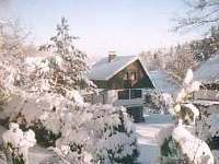 chata v zimě - k pronajmutí Kunžak
