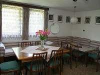 velký obývací pokoj - pronájem chaty Kunžak