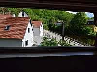 výhled ze 4 lůžkového pokoje - Český Krumlov