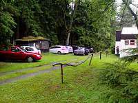 parkovací místa před Chatou Bára