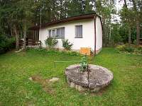 Chata Stráž nad Nežárkou - pohled ze zahrady na objekt