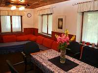 obývací pokoj - chata k pronájmu Strmilov