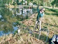 rybolov na rybníku Amerika - chata k pronajmutí Strmilov