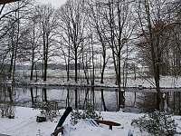 pohled na řeku v zimě - Lužnice