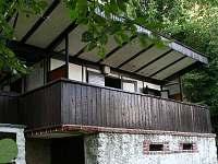 pohled na chatu - k pronajmutí Kunžak