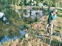rybaření na rybníku Amerika