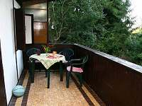 zastřešená veranda - pronájem chaty Kunžak