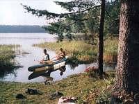 loďka k dispozici - chata k pronajmutí Kunžak