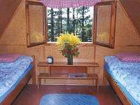 ložnice v podkroví - chata k pronajmutí Kunžak
