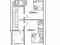 půdorys apartmán č. 1 patro